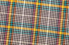 Colorful checkered texture background. Textile texture Stock Photography