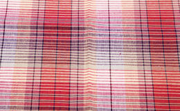 Colorful checkered texture background. Textile texture Stock Images