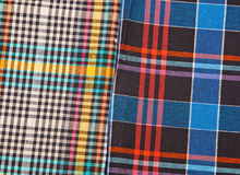Colorful checkered texture background. Colorful checkered texture, textile background Royalty Free Stock Images