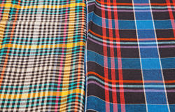 Colorful checkered texture background. Colorful checkered texture, textile background Royalty Free Stock Photos