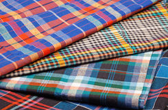 Colorful checkered texture background. Colorful checkered texture, textile background Royalty Free Stock Image