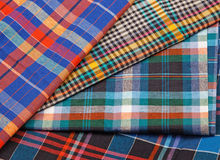 Colorful checkered texture background. Colorful checkered texture, textile background Stock Photo