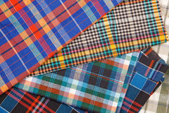 Colorful checkered texture background. Colorful checkered texture, textile background Stock Images