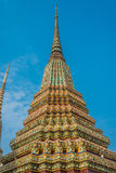 Colorful chedi Wat Pho temple bangkok thailand Royalty Free Stock Image