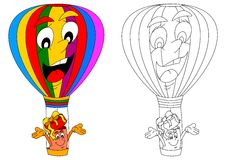 Colorful and cheerful flying balloon and gift Royalty Free Stock Images