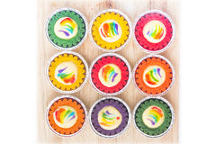 Colorful cheese tarts - Series 2 Stock Photo