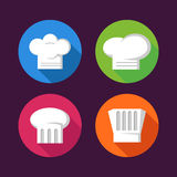 Colorful Chef Hat Flat Icon Set Royalty Free Stock Images