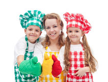 Colorful chefs Royalty Free Stock Image