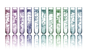 Colorful chemicals royalty free stock photo