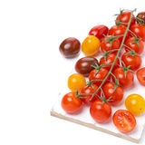 Colorful cherry tomatoes, isolated Stock Photos