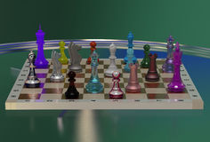 Colorful chess Stock Photos