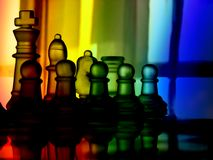 Colorful chess Royalty Free Stock Image