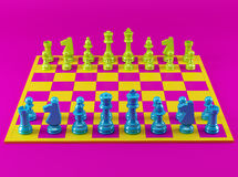 Colorful Chess Board Royalty Free Stock Photo
