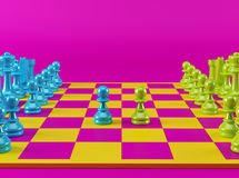 Colorful Chess Board Royalty Free Stock Image