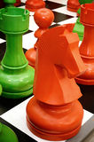 Colorful chess knight Royalty Free Stock Images