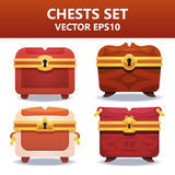 Colorful  chests set. Assets set for game design and web application. Colorful  chests set. Ready assets set for game design and web application Stock Image