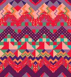 Colorful chevron seamless pattern. Vibrant zigzag patchwork Royalty Free Stock Photo
