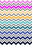 Colorful Chevron Stripe Patterns Stock Photos