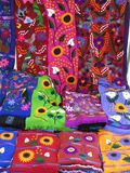 Colorful Chiapas Textiles Stock Photo