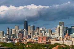 Colorful Chicago Skyline Stock Photo