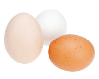 Colorful chicken eggs. Stock Photo