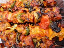 Colorful Chicken Kabobs Stock Images