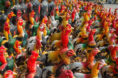 Colorful of Chickens Stock Image