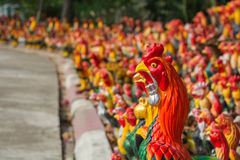 Colorful of Chickens Royalty Free Stock Images
