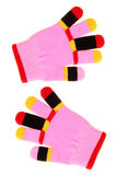 Colorful child gloves Stock Images