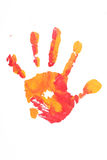 Colorful child hand printed royalty free stock photography