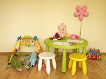Colorful child room Royalty Free Stock Photo
