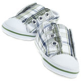 Colorful Child Sized Sneaker Shoes Stock Photo