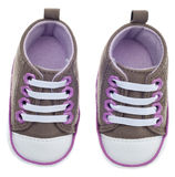 Colorful Child Sized Sneaker Shoes Stock Images