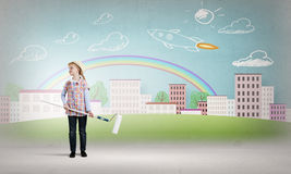 Colorful childhood Royalty Free Stock Image