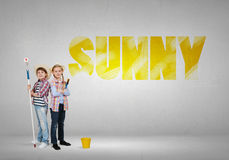 Colorful childhood Royalty Free Stock Photography