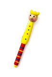 Colorful childish funny pen on the white background Royalty Free Stock Photography