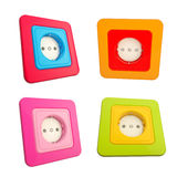 Colorful childish sockets set of four Royalty Free Stock Images
