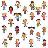 Colorful children. Colorful and funny children background Royalty Free Stock Photos