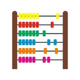 Colorful children abacus icon. In flat style isolated on white background Vector Illustration