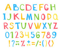 Colorful children ABC for your design Royalty Free Stock Photos