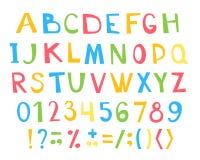 Colorful children ABC for your design. Vector illustration stock illustration