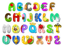 Colorful children alphabet. Vector illustration of colorful children alphabet Royalty Free Stock Image