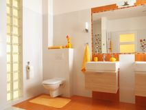 Free Colorful Children Bathroom With Toilet Stock Images - 24148304