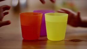 Colorful children glasses stock video footage