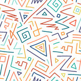 Colorful children hand drawn seamless pattern. Royalty Free Stock Images