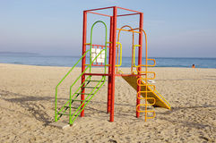 Colorful children playground on Beach Stock Photography
