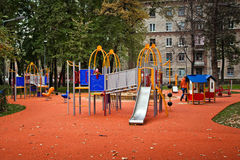 Colorful children playground equipment Royalty Free Stock Photos
