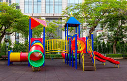 Colorful children playground. In the park Royalty Free Stock Photo