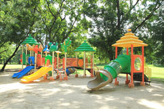 Colorful children playground. In the park Stock Images