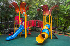 Colorful Children Playground In The Park. Colourful Children Playground In The Park Royalty Free Stock Image